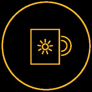 Icon Kaffeetasse mit Sonne