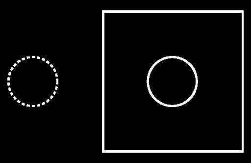 Piktogramm: Ein Teil fehlt.