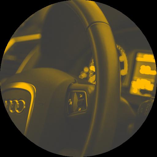 Audi Lenkrad und Console in Kreis