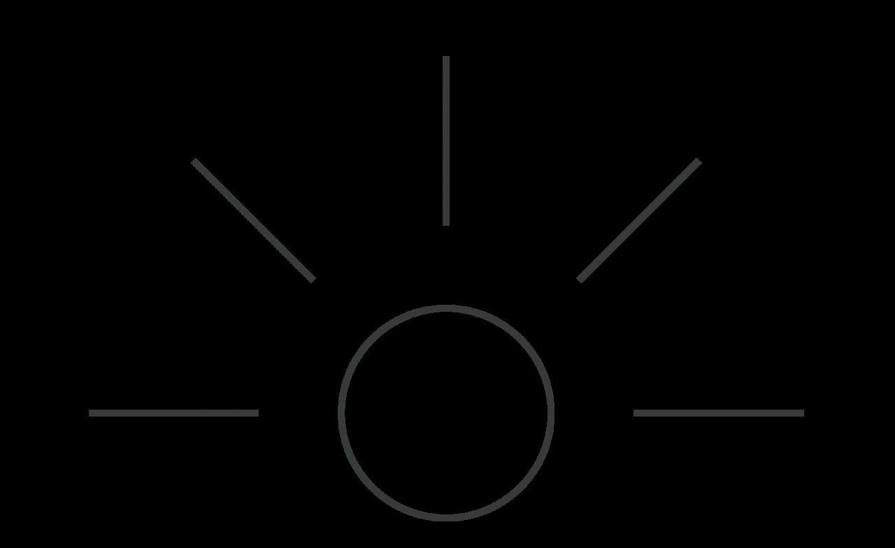 Piktogramm Leuchtender Kreis