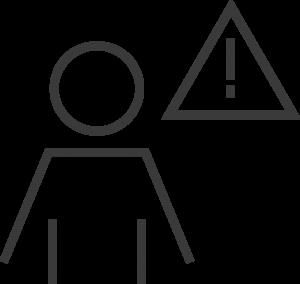 Icon Mensch Achtung Zeichen