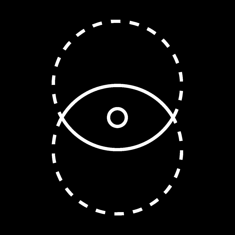 Icon: Elemente bilden Auge Weiß