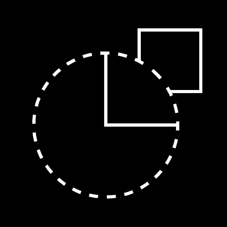 Icon: unter die Lupe nehmen Weiß