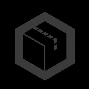 Logo Icon Box mit Verkehrsstreifen als Symbol für Autos