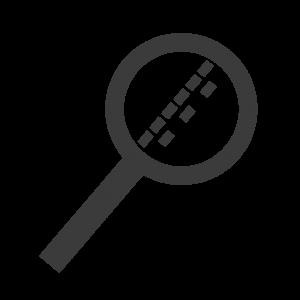 Logo Icon Lupe die Verkehr analysiert