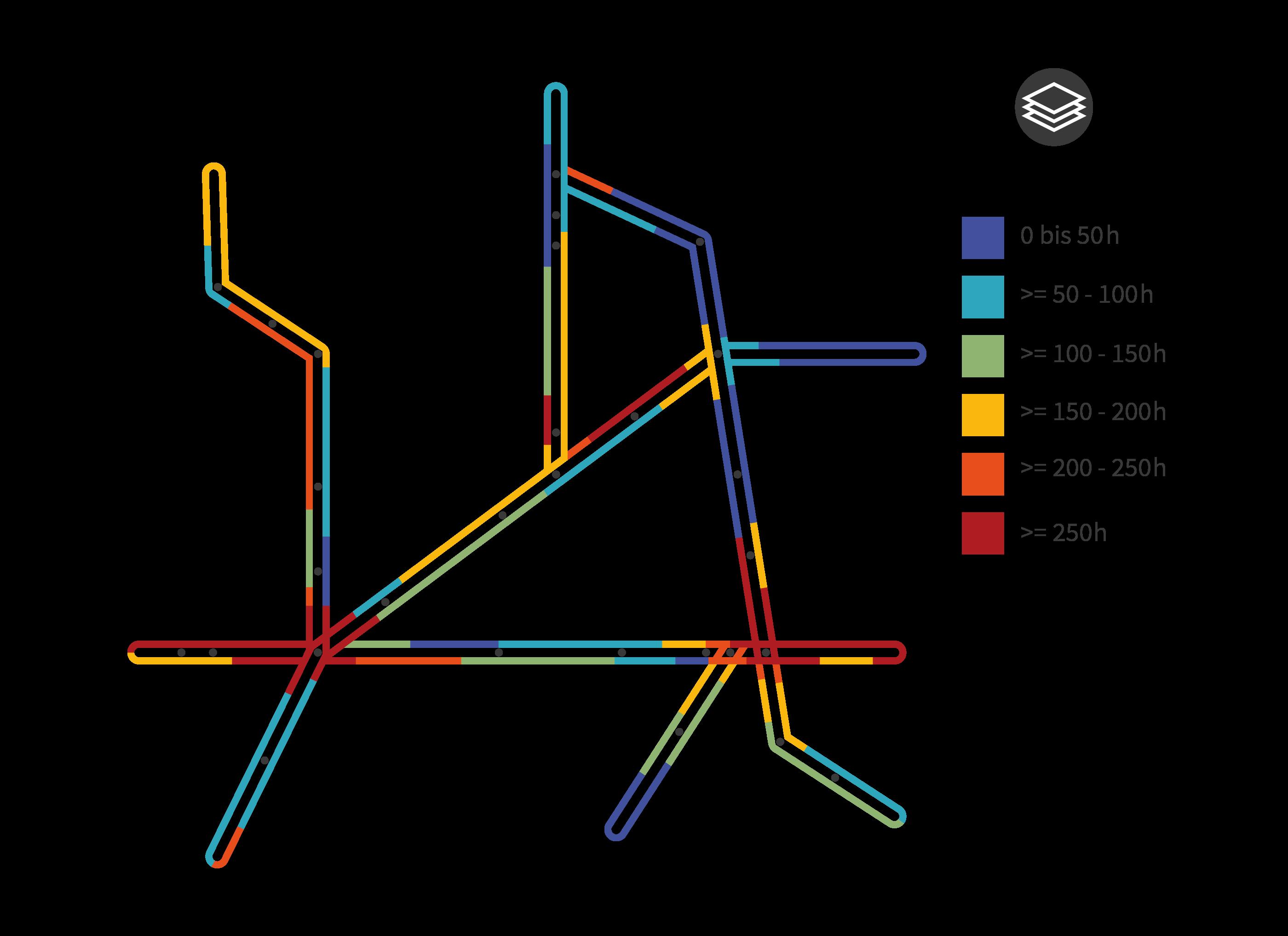 Grafik Abbildung in Kartendarstellung