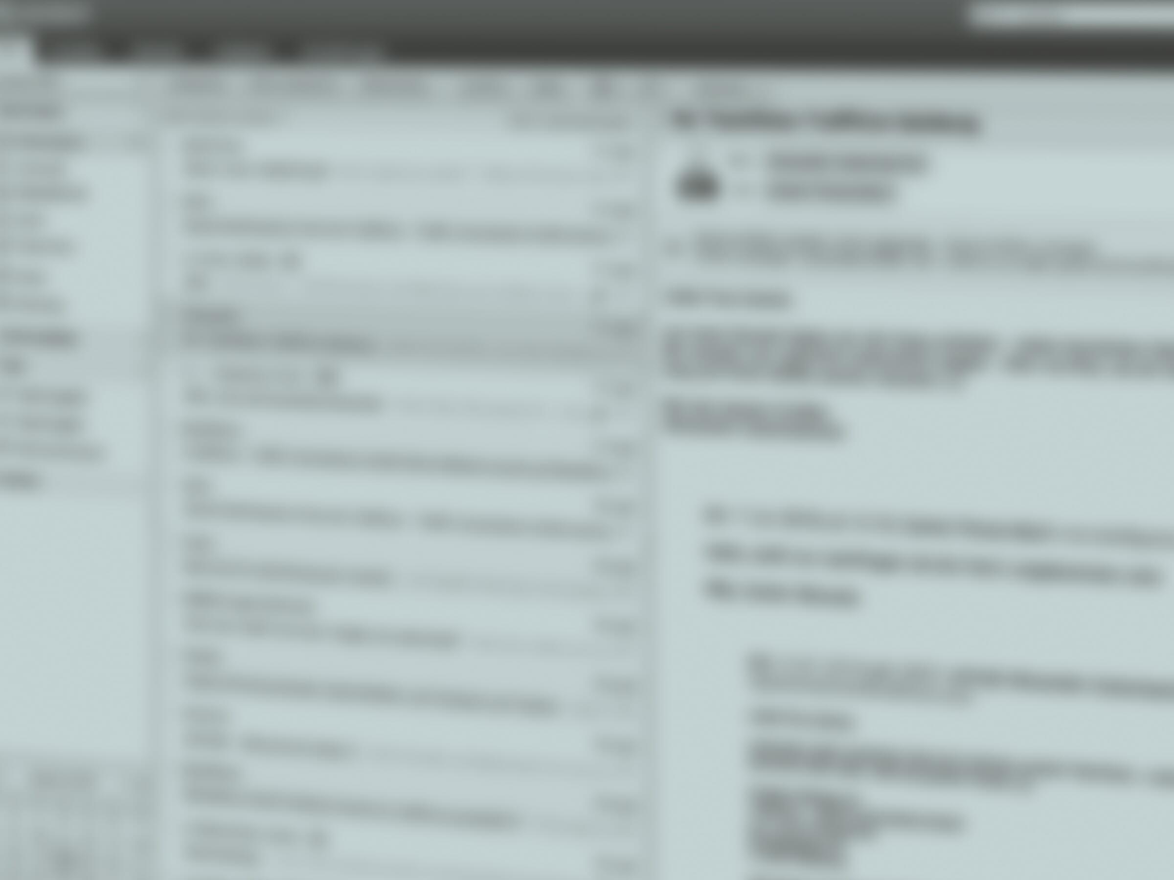 Email Bildschirm verschwommen