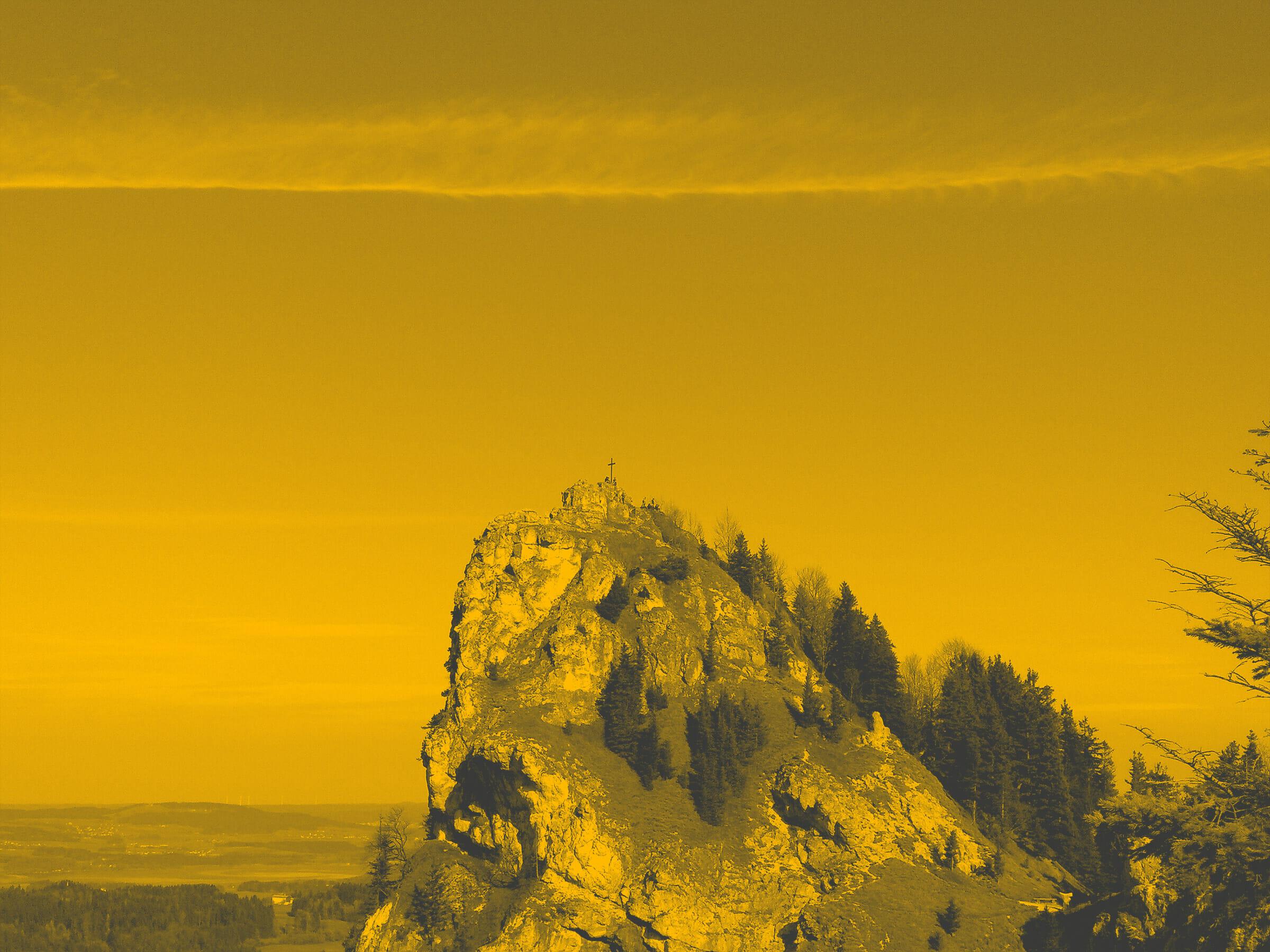 Nockstein Gipfel bei Betriebsausflug