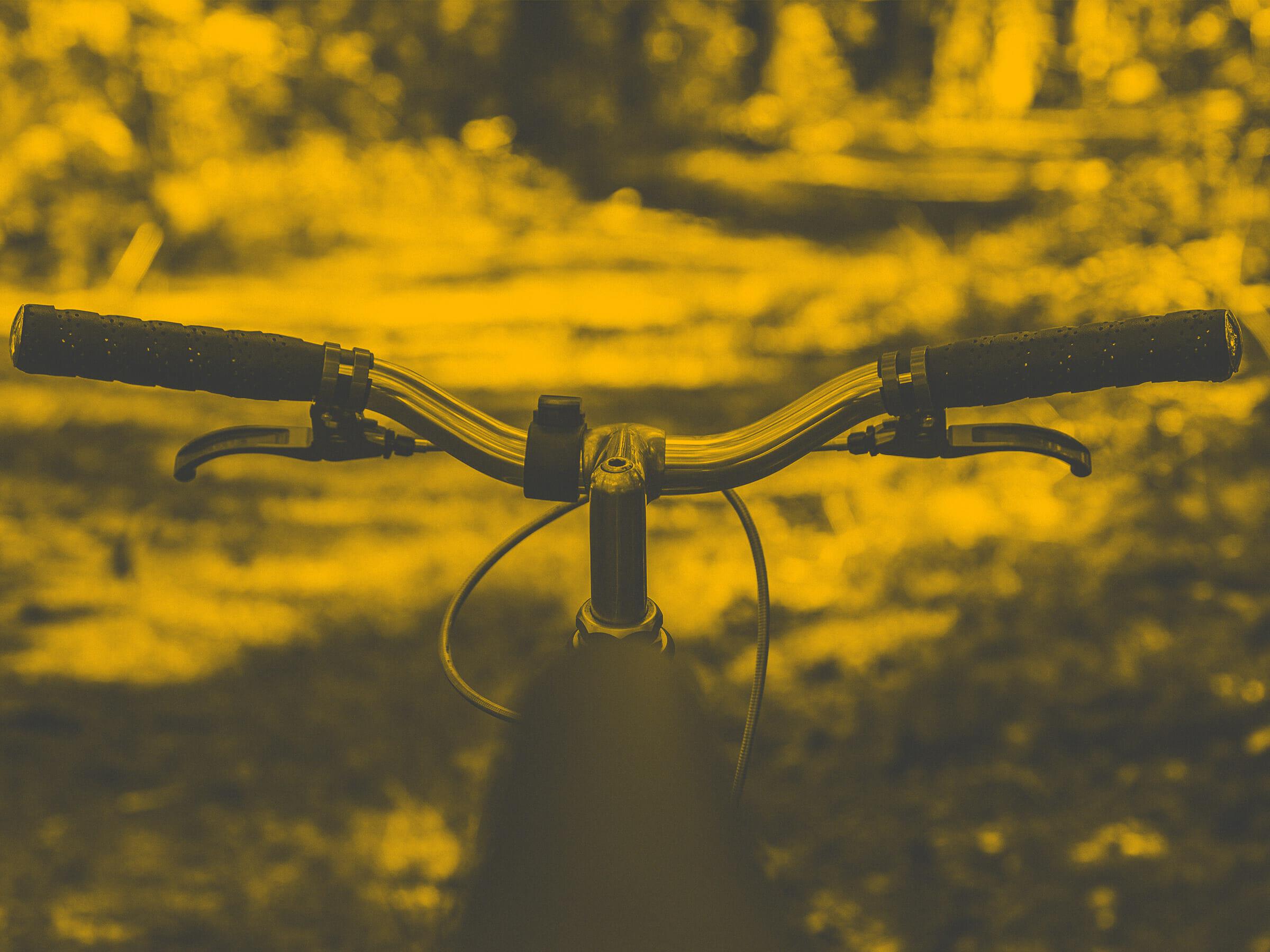 Radlenker vor Waldweg