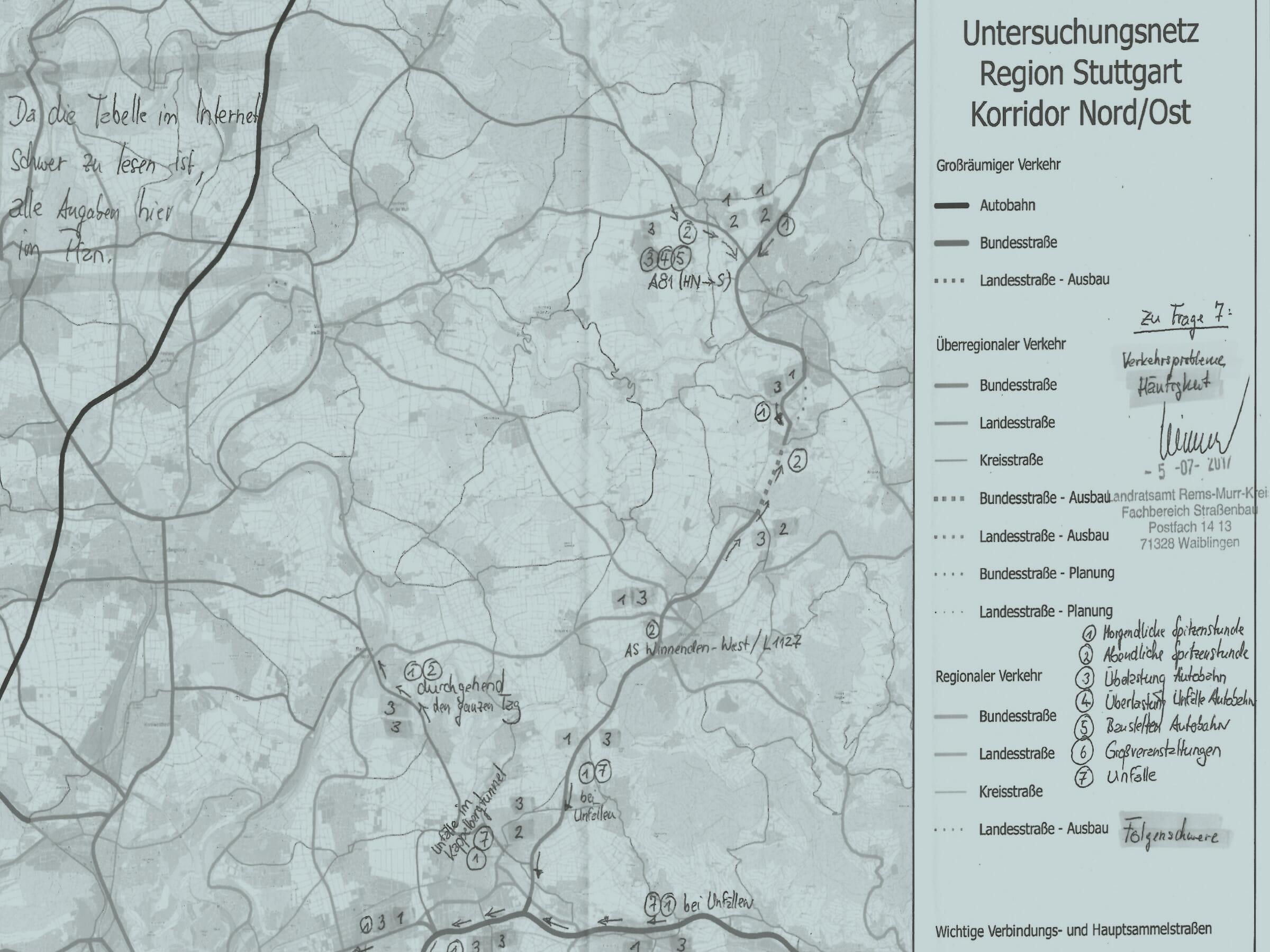 Verkehrsprobleme Stuttgart Lösung