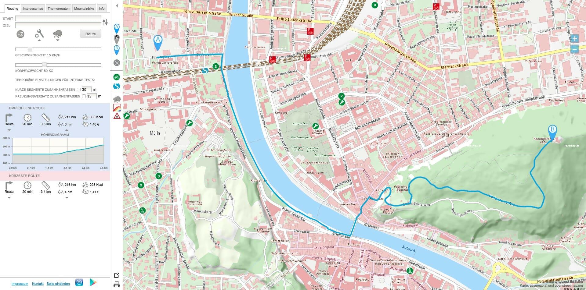 Radfahren in Salzburg: die Radlkarte Salzburg