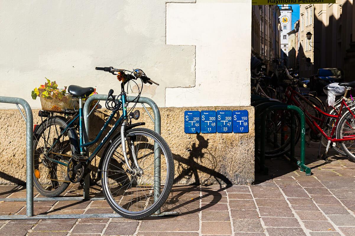 Salzburger Altstadt Fahrradständer