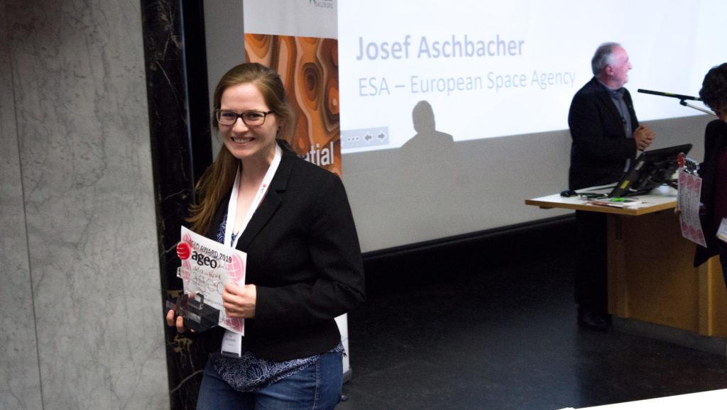 Eva Westermeier belegt den zweiten Platz beim AGEO Award 2019