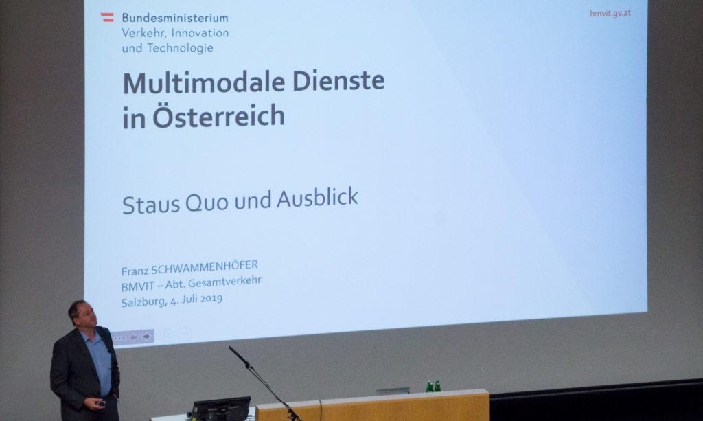 Multimodalen Dienste in Österreich: Vortrag von Franz Schwammenhöfer