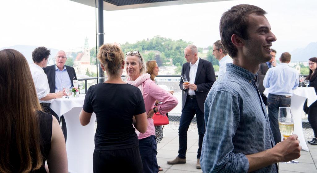Empfang der Gäste mit Blick auf die Altstadt