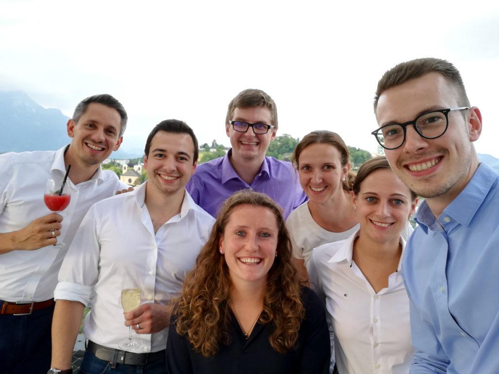 Das Münchner Team in Salzburg