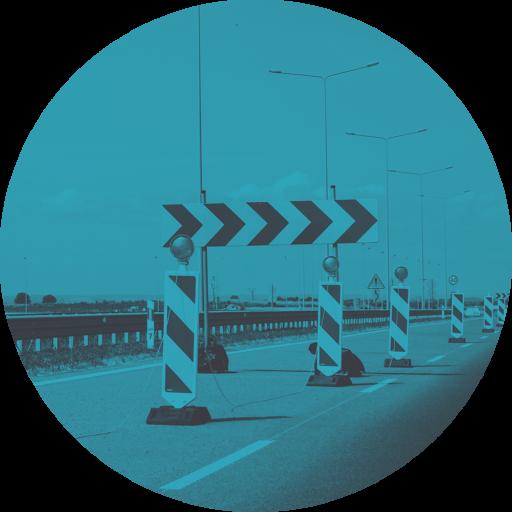 Tagesbaustelle auf deutscher Autobahn