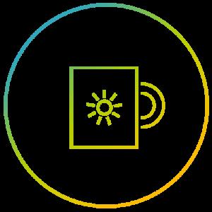 Icon Tasse mit Sonnenschein