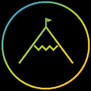 Icon Gipfel erreichen