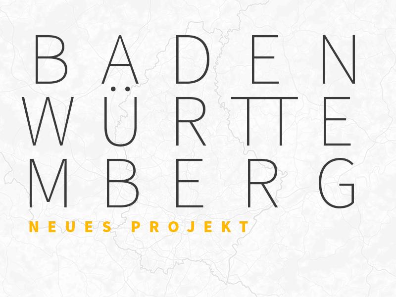 Karte Neue Beauftragung Baden Württemberg
