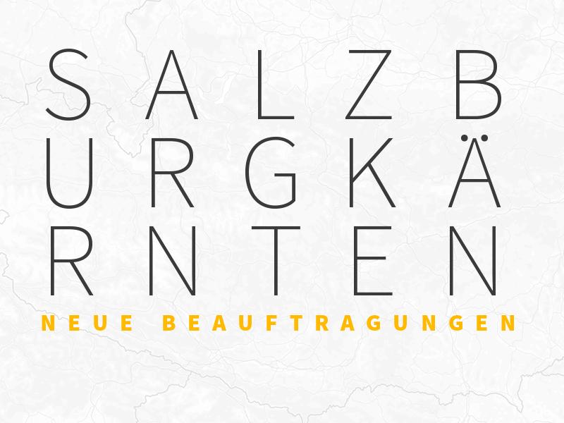 Karte Salzburg Kärnten Beauftragung zu Projekte Verkehrsdatenerfassung