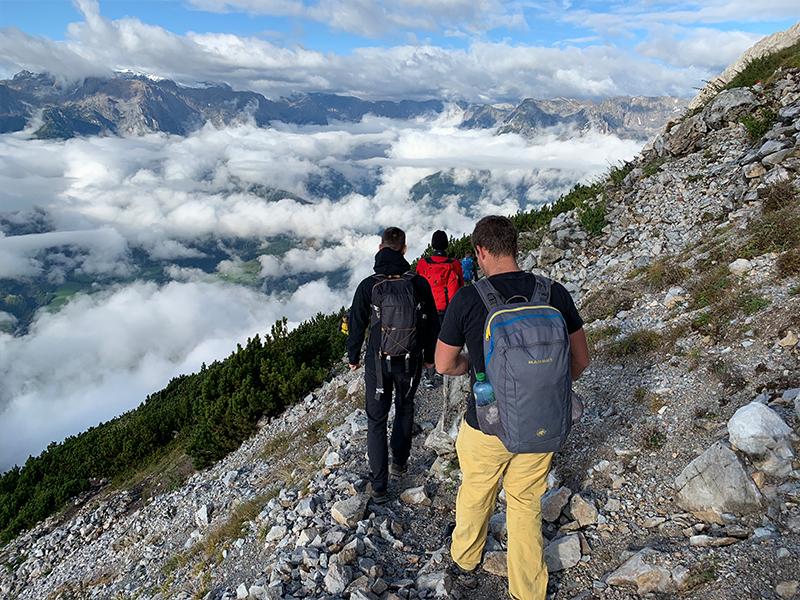 Team Trafficon Abstieg Werfener Hütte